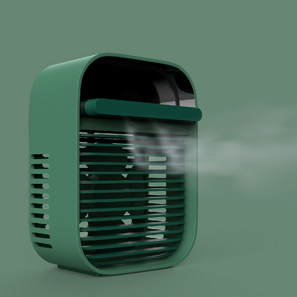 Home Mini Air Conditioner Fan USB Rechargeable Air Cooler for Home Office Student Dormintory Desk green_120 * 80 * 160mm