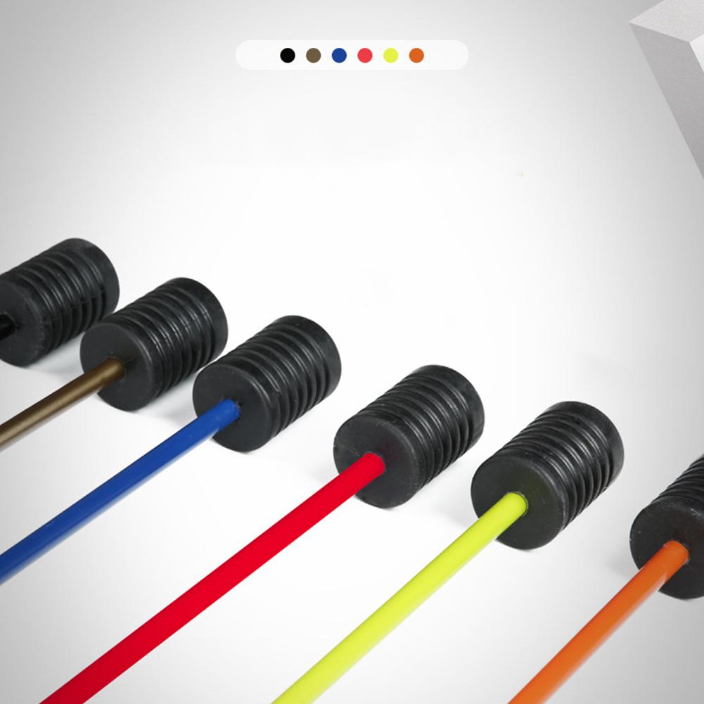 Detachable Fitness Pole Yoga Exercise Elastic Rod Gym Stick Elasticity Arm black_Total length 1600mm