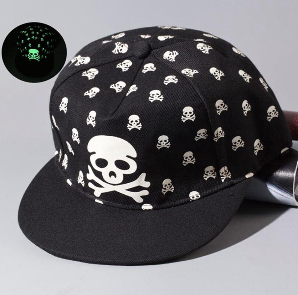 [US Direct] Luminous Hip-Hop Baseball Cap Glow In The Dark Night  Green Light TFBOYS