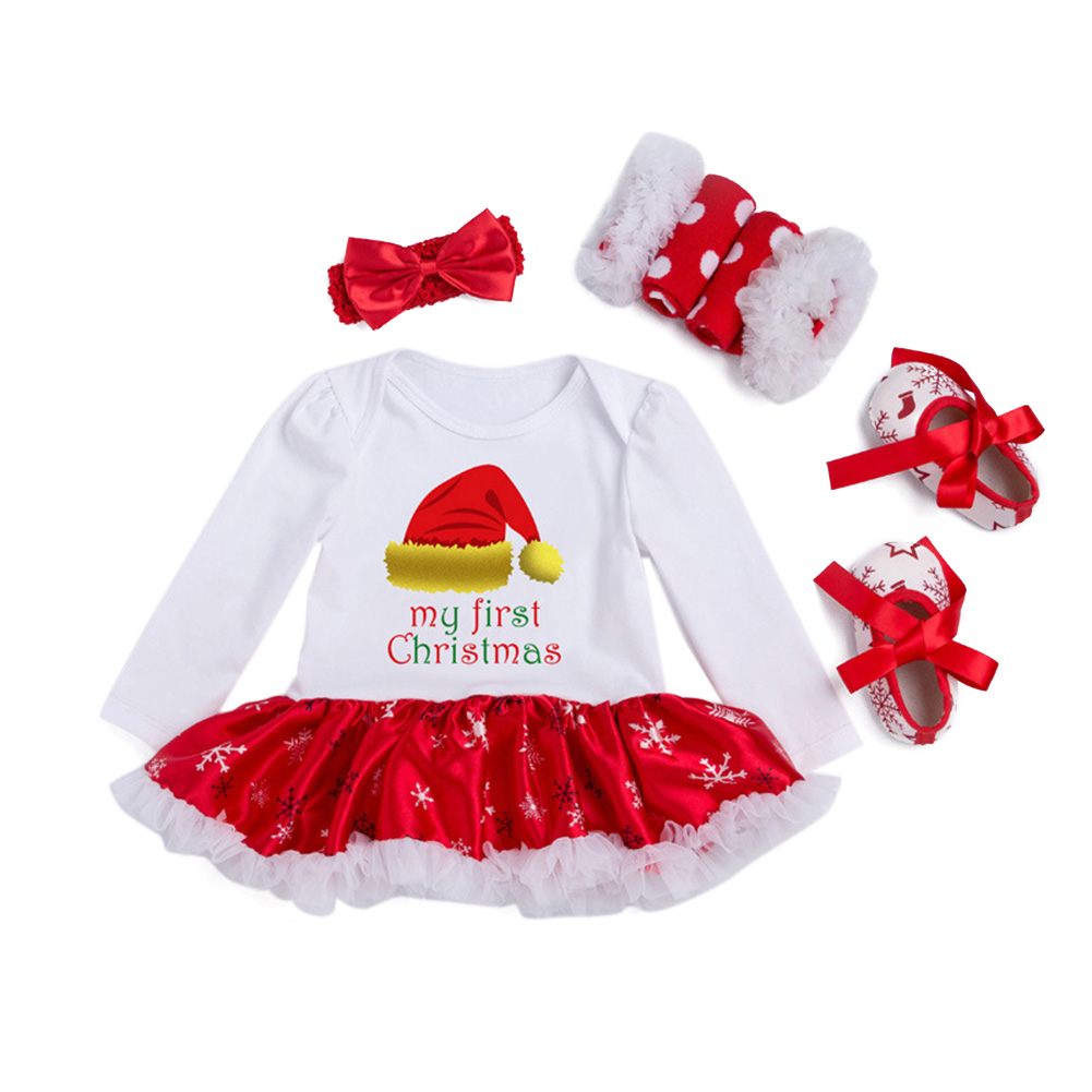 Christmas Baby Jumpsuit Dress Set