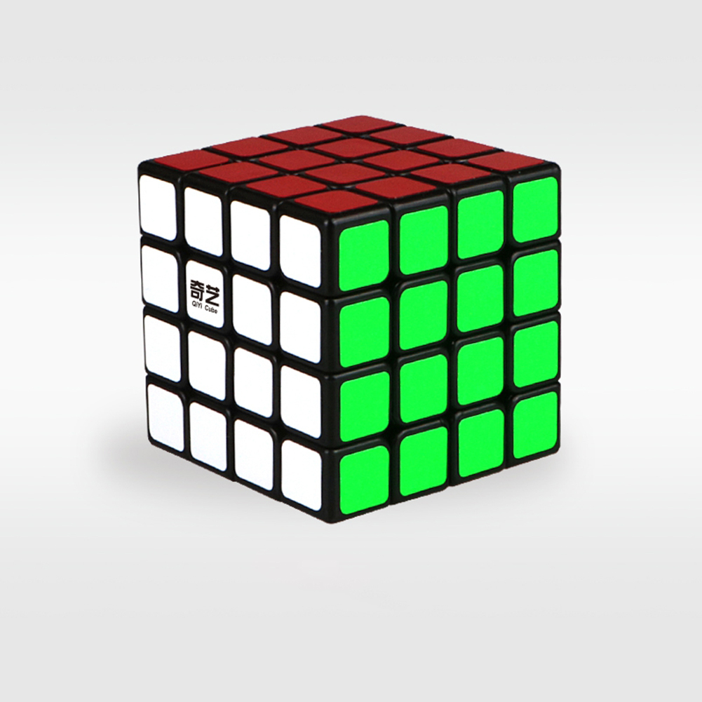[US Direct] Brain Teaser G4 Magic Cube 4x4 Sticker Twisty Puzzle Competition Speed Cube Black