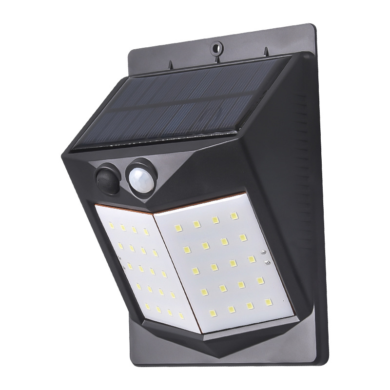 5W LED Solar Charging Human Body Induction Wall Light Short double-sided 60LED