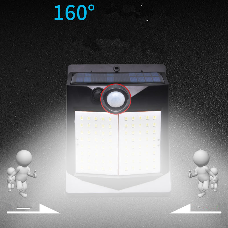 5W LED Solar Charging Human Body Induction Wall Light Short double-sided 40LED