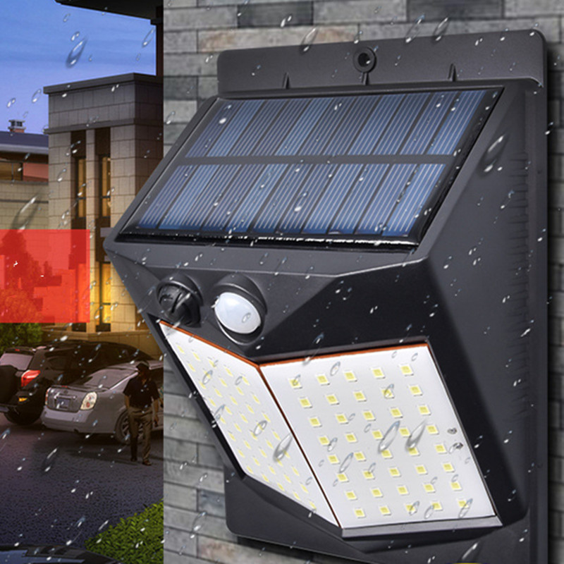 5W LED Solar Charging Human Body Induction Wall Light Short double-sided 80LED