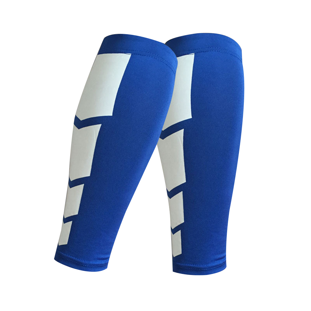 Compression Leg Sleeve Calf Sleeve for Men and Women, Calf Guard for Basketball, Football, Running, Cycling Outdoor Sports 1PC Blue l [suitable for about 150 pounds]