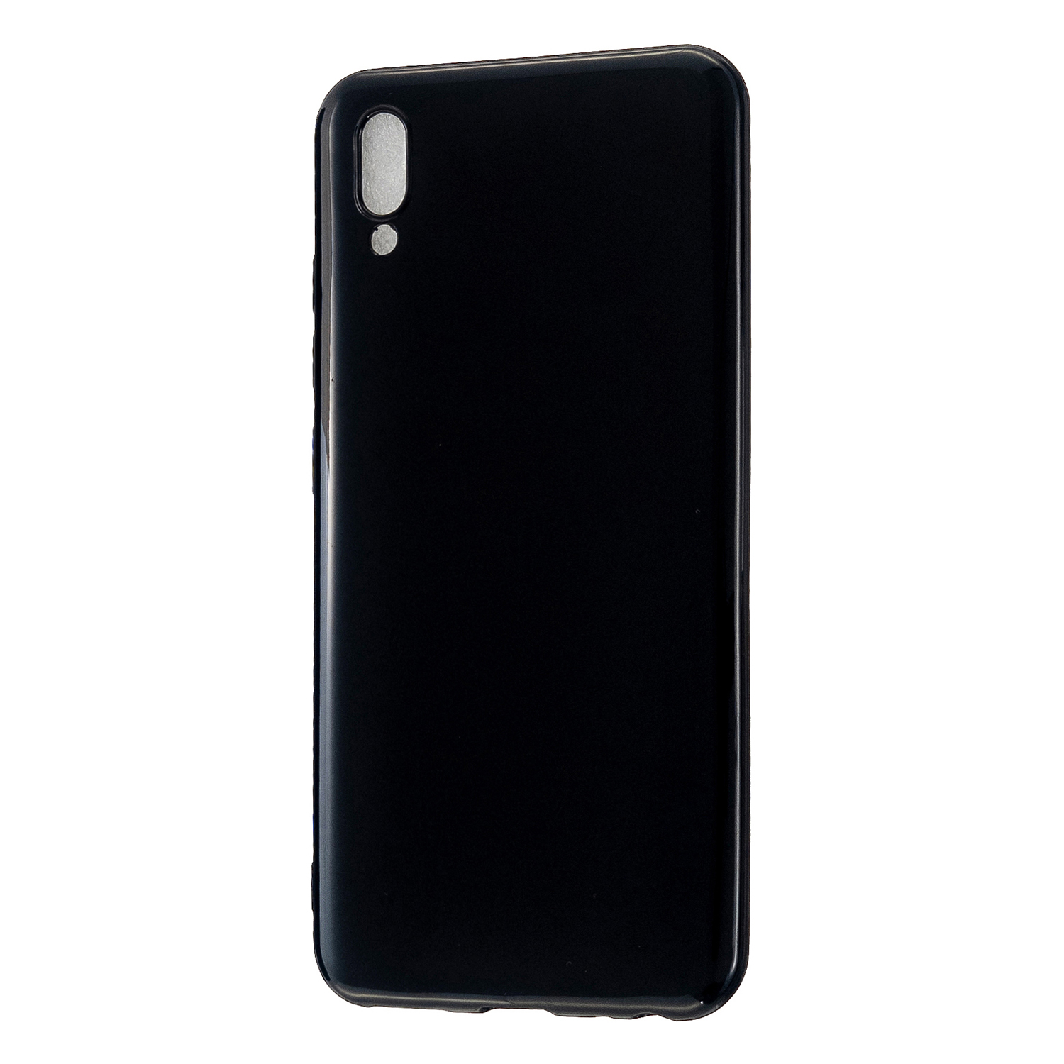For VIVO IQOO Neo/Y97 Glossy TPU Phone Case Mobile Phone Soft Cover Anti-Slip Full Body Protection Bright black