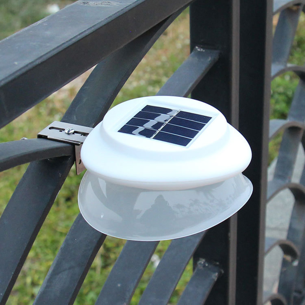 Outdoor Solar LED Wall Light Wall Yard Fence Night Pathway Outdoor Night Light  White shell white light