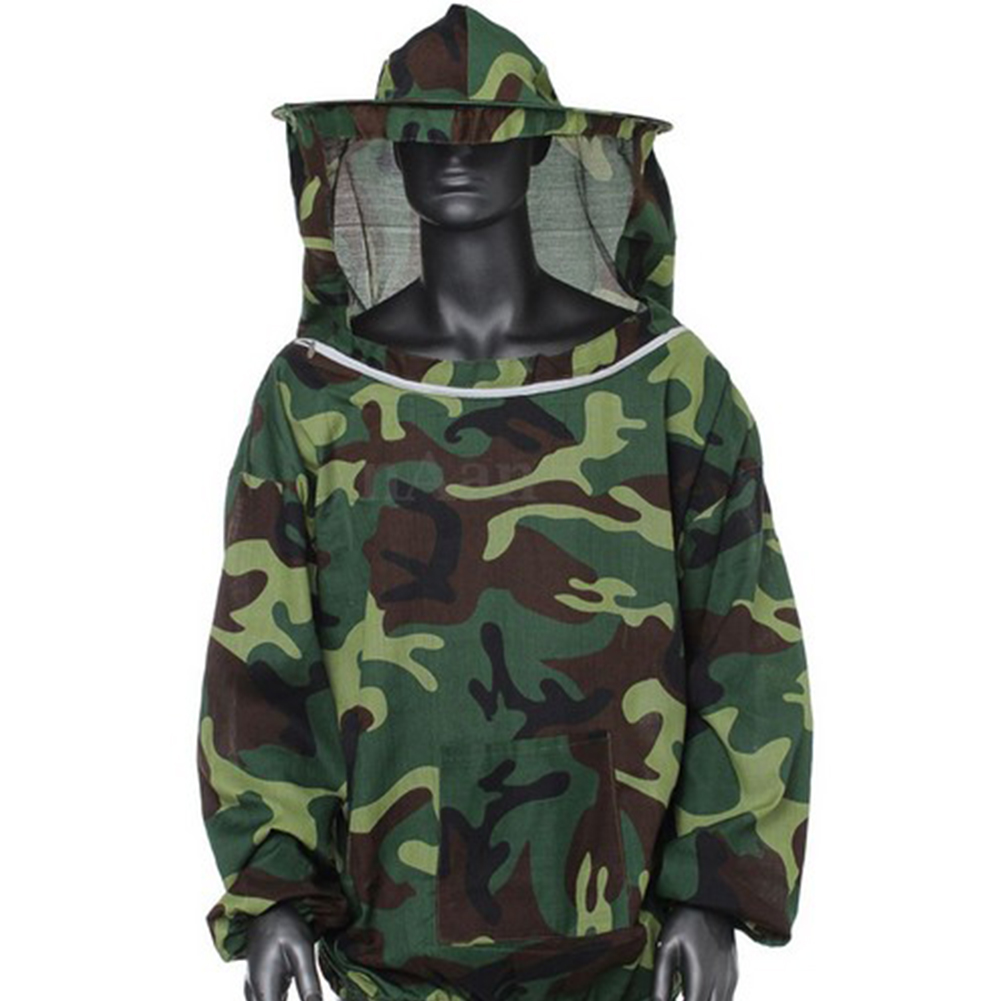 Creative Bee Protecting Suit Beekeeping Jacket Smock Equipment  camouflage green