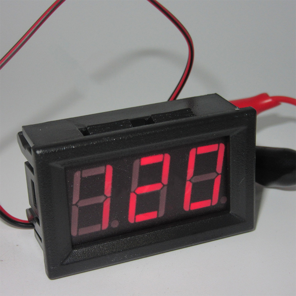 AC 220V 2-wire Voltage Meter Head LED Digital Voltmeter with Reverse Polarity Protection Red light
