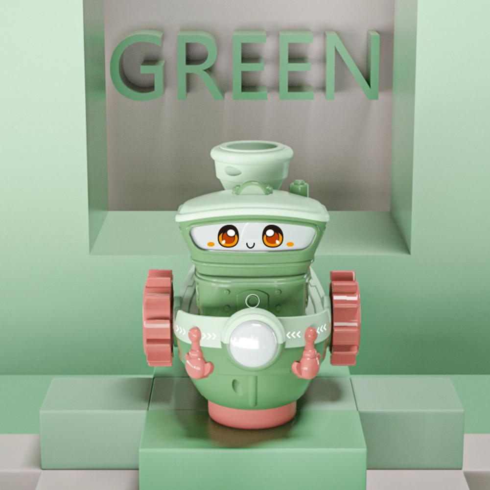 Children Cartoon Toy Electric Boat Spray Smokes Cruise Light Music Boat Toys green