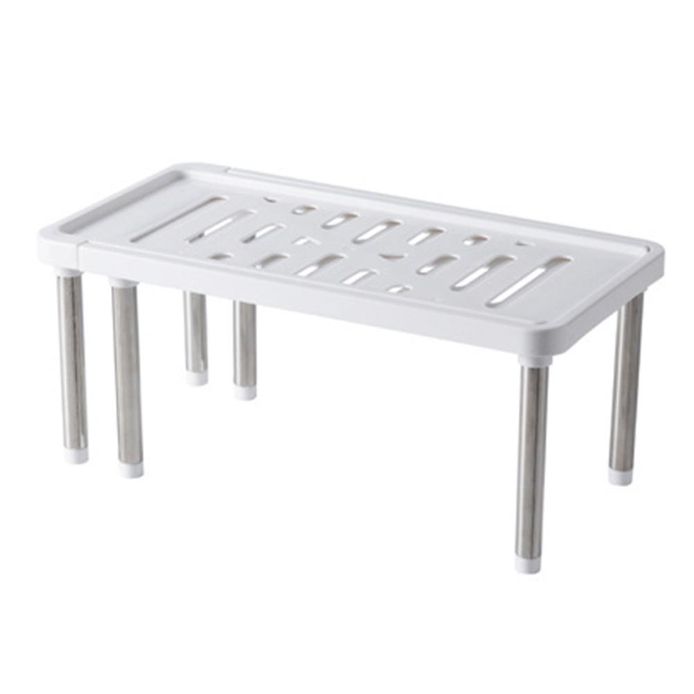 Retractable Kitchen Shelf Storage  Rack Household Organizer Accessories White