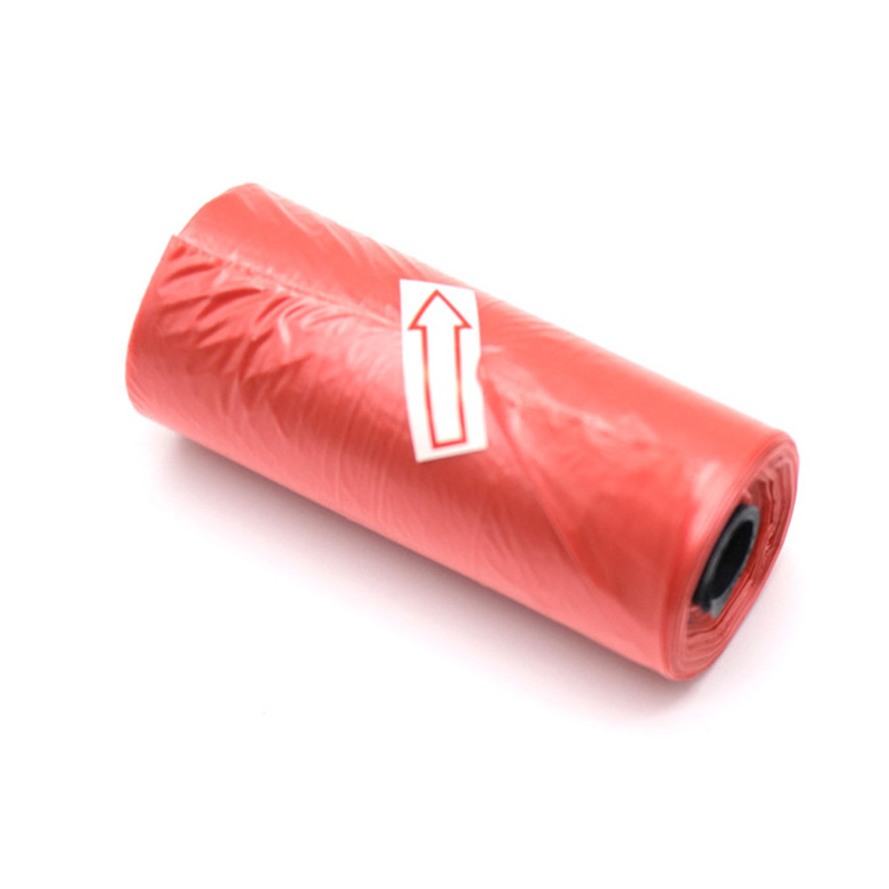 15pcs/Roll Plastic Garbage Bag Rubbish Bags Special for Baby Diapers Abandoned   red