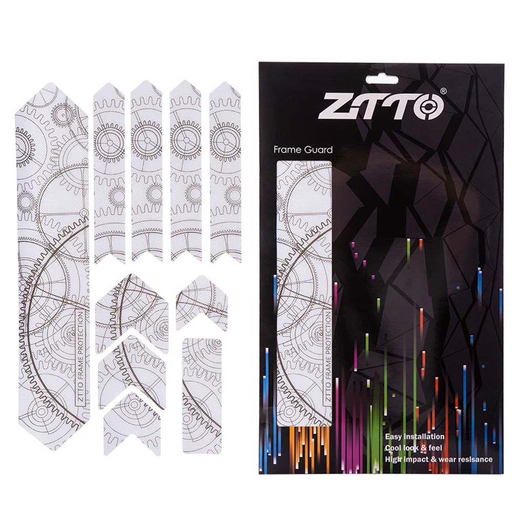 ZTTO Bicycle Frame Protector Stickers 3D Scratch-Resistant Waterproof Sticker Gear