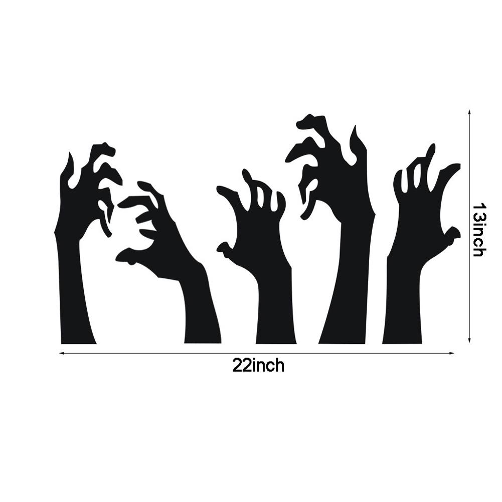 Black Handprint Wall Sticker Halloween Decor Horror Party Decal AFH2050 black