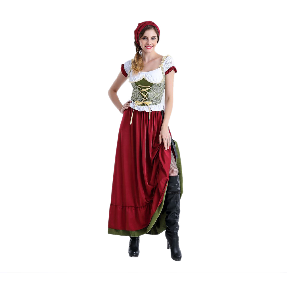 Women Fashion Oktoberfest Festival Costumes Beer Festival Stage Cosplay Suit Long _XL