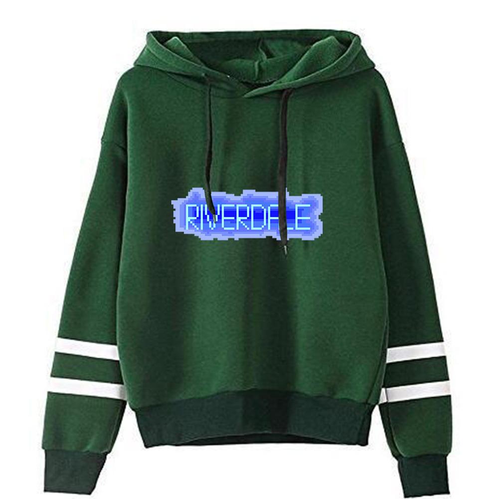Men Women American Drama Riverdale Fleece Lined Thickening Hooded Sweater Green C_L