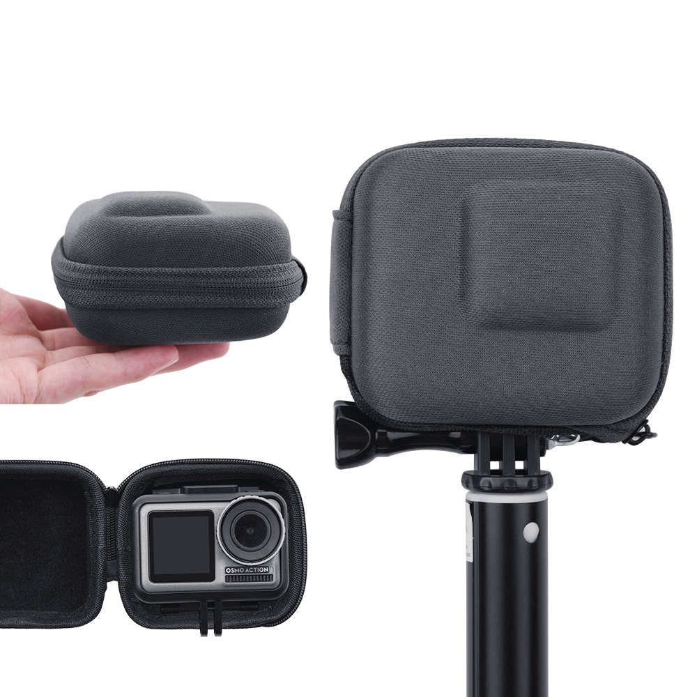Portable Carry Case Storage Box Waterproof Camera Protective Bag for OSMO ACTION/GoPro Hero 7 6 5 gray