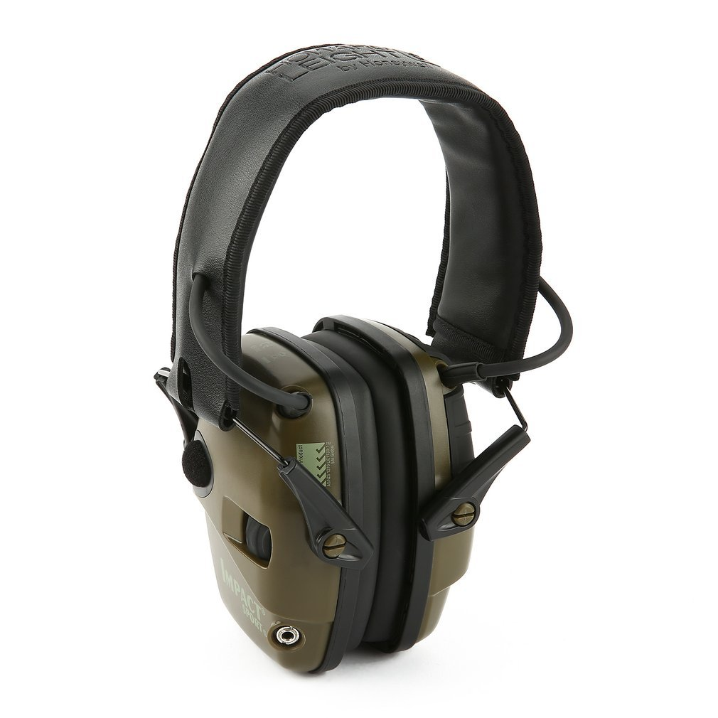 1 Pair Of Sports Headset Noise Reduction Earmuffs Hearing Protection Professional Headphones green