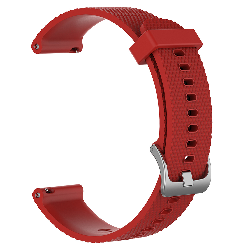 For Ticwatch c2 Smart Watch Replacement Solid Color Silicone Strap Wristband red