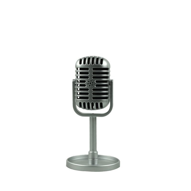 Classic Retro Dynamic Vocal Microphone Vintage Style Mic Universal Stand Compatible Live Performance Karaoke Studio Recording Silver