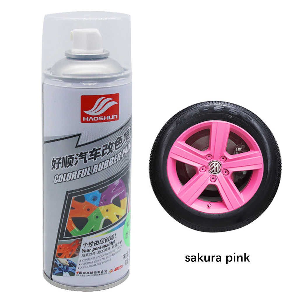 Auto Wheel Spray Film Car Tire Color Change Wheel Hub Paint Cherry pink