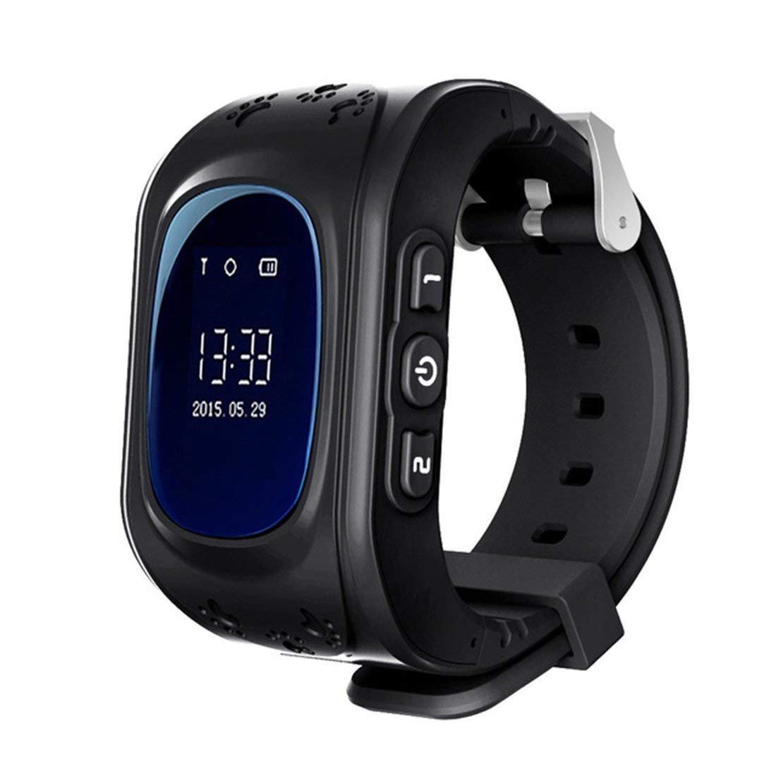 Kids Smart Watch Girls Boys Digital Watch with Anti-Lost SOS Button GPS Tracker Smartwatch  black