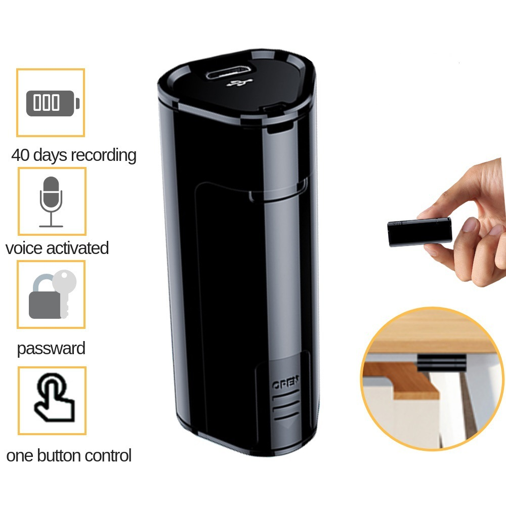 Q51 Voice Recorder Abs Material High-definition Noise Reduction Voice Recorder No Need to Charge 8G