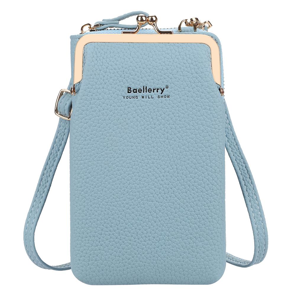 Women Satchel Crossbody Bag Mini PU Leather Shoulder Messenger Bag for Girls Phone Purse blue