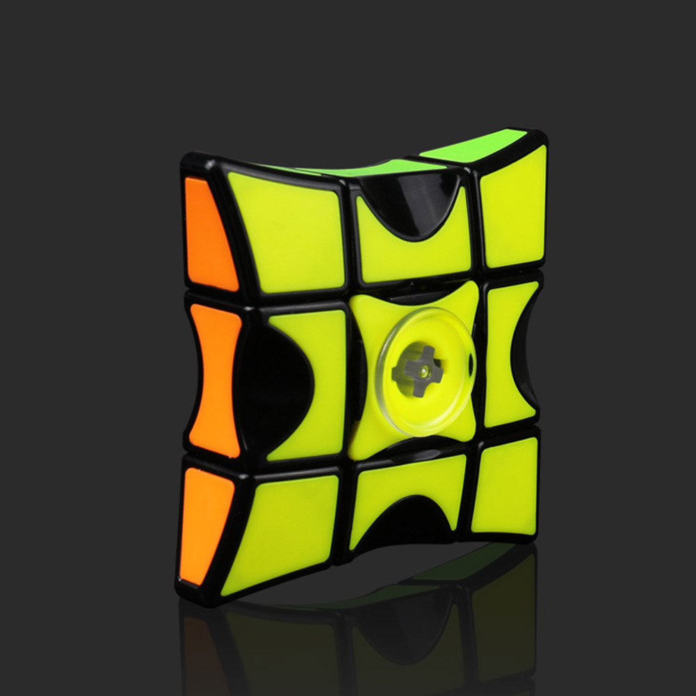Qiyi Fingertip Puzzle Magic Cube Funny Decompression Toy for Kids Adult Fingertip 133 [Black]