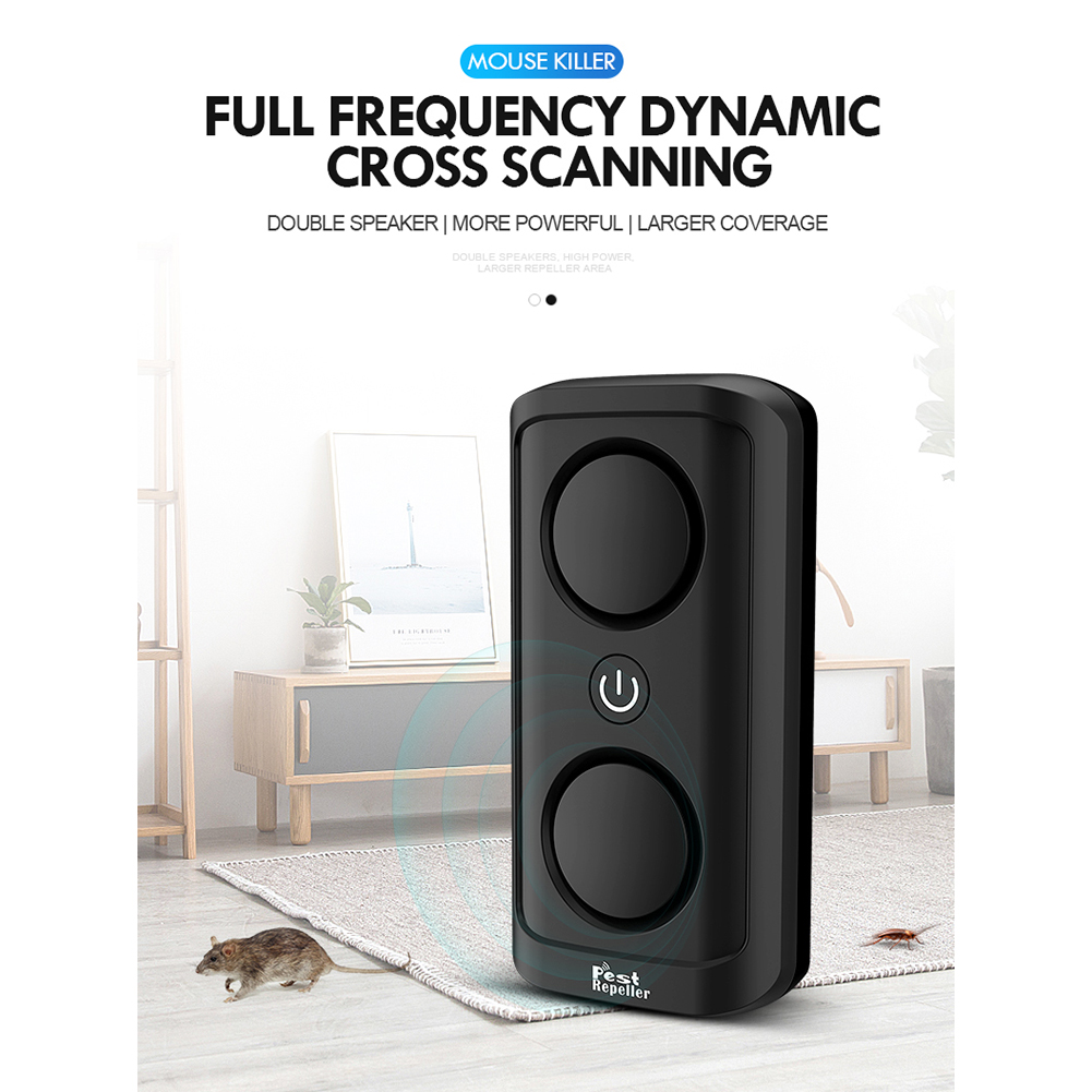 Eectromagnetic Wave Ultrasonic Mouse Repeller EPA Electronic Pest Repeller for Rat Mosquito Mice Flea Insect black_U.S. regulations