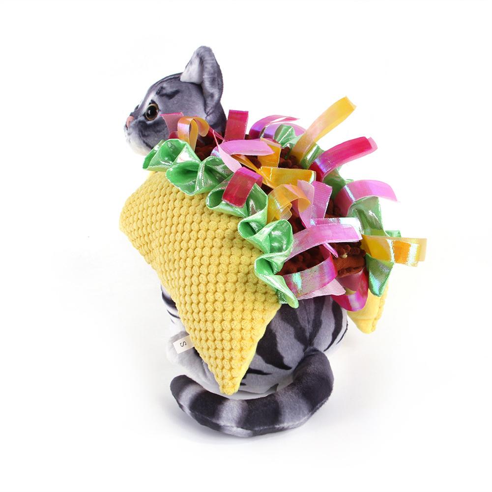 Cotton Hamburger Shape Pet  Harness Cat Teddy Funny Decorative Dress Pet Supplies As shown_M