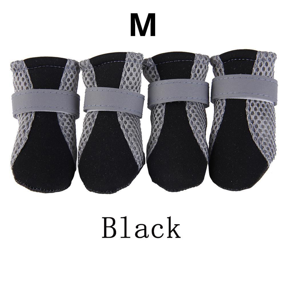 Anti-slip Unisex Soft-soled Shoes Waterproof Shoes Protective Rain Boots for Pet Dog black_M