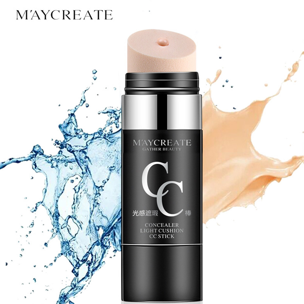 [Indonesia Direct] Air Cushion CC Foundation Makeup Natural Cover Moisturizing Waterproof Whitening Face Concealer Stick