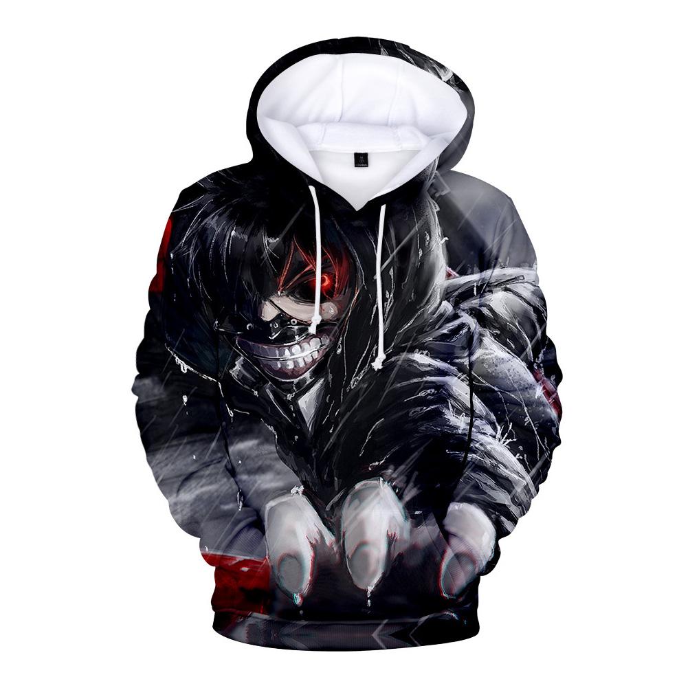3D Women Men Fashion Tokyo Ghoul Digital Printing Hooded Sweater Hoodie Tops B_XXL
