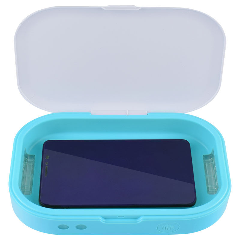 Mini Sterilizer Disinfection Manicure UV LED Disinfector Box blue