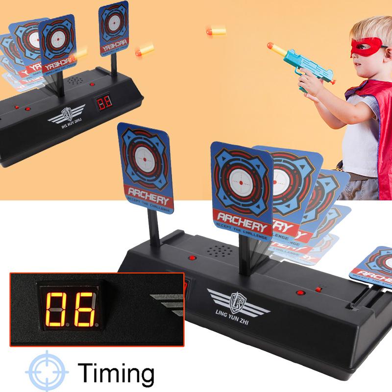 [EU Direct] Children Electric Score Bullet Target Toy for Soft Bullets Blaster (Not Include Toy Gun or Bullets) black