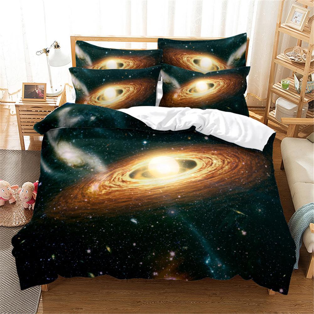 2Pcs/3Pcs Quilt Cover +Pillowcase 3D Digital Printing Starry Series Bedding Set FUll