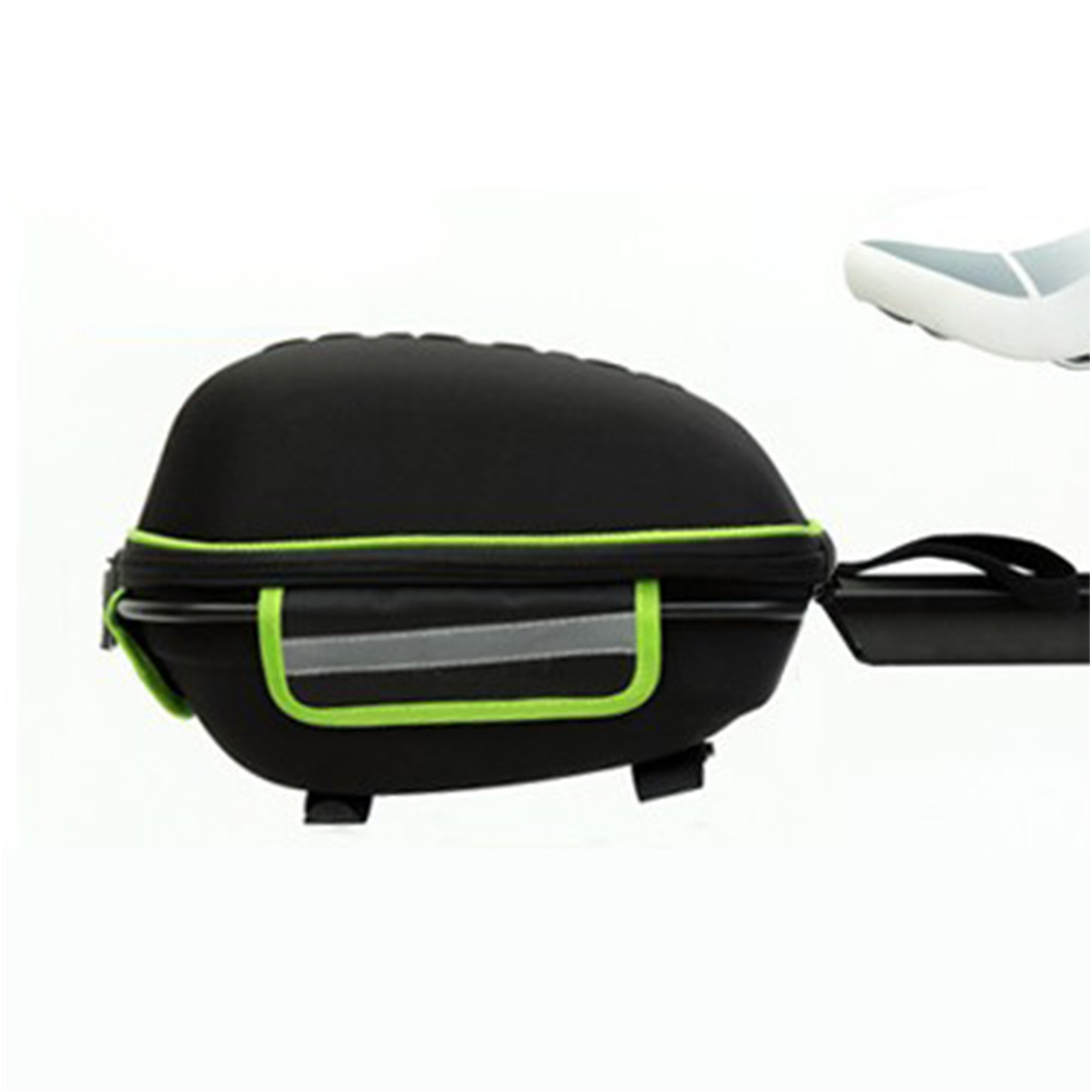 Bicycle Hard Cover Detachable Shell Package Tail Box with Mountain Bike Rack Bag dark green_28.5*19*18.5cm