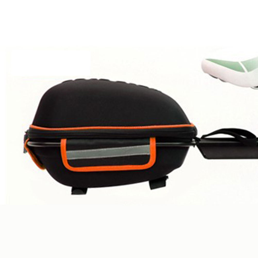 Bicycle Hard Cover Detachable Shell Package Tail Box with Mountain Bike Rack Bag Black orange_28.5*19*18.5cm