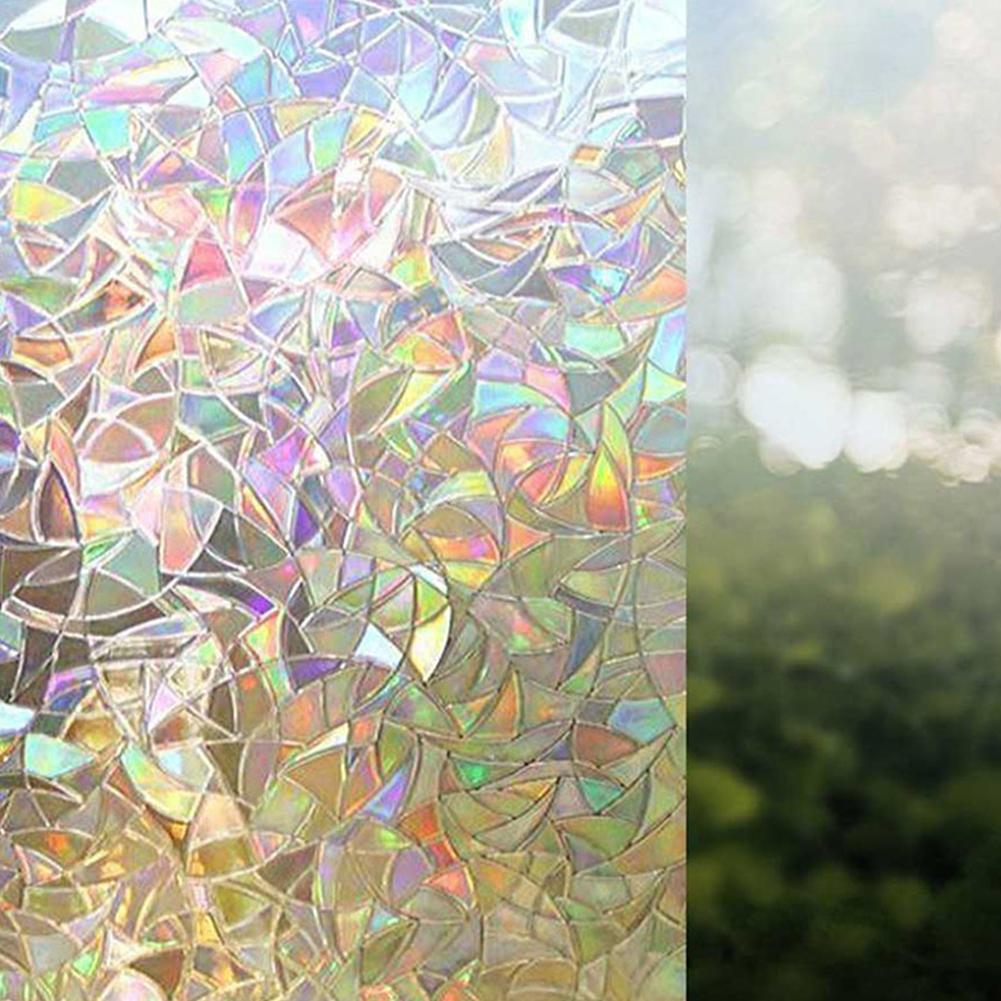 Non-Adhesive Static 3D Irregular Pattern Colorful Window Film