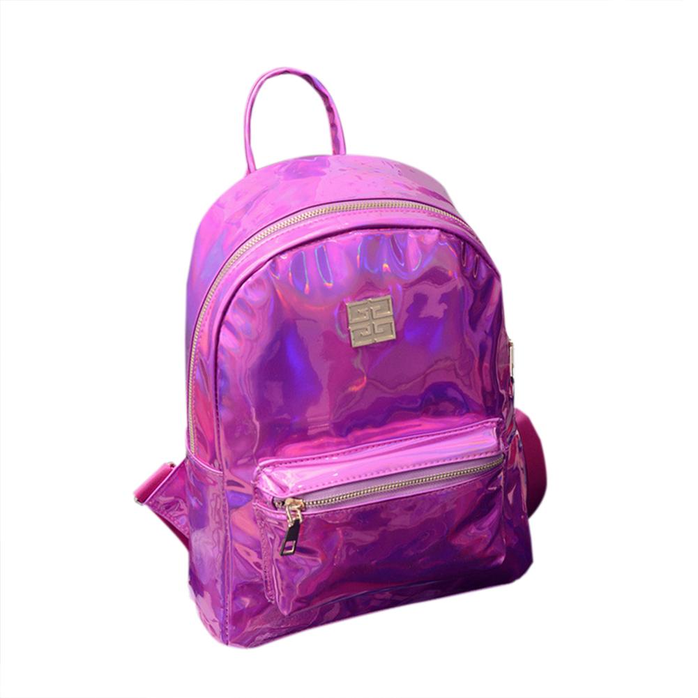 Girls Shiny Hologram Laser PU Shouder Bag Satchel Backpack School Daypack
