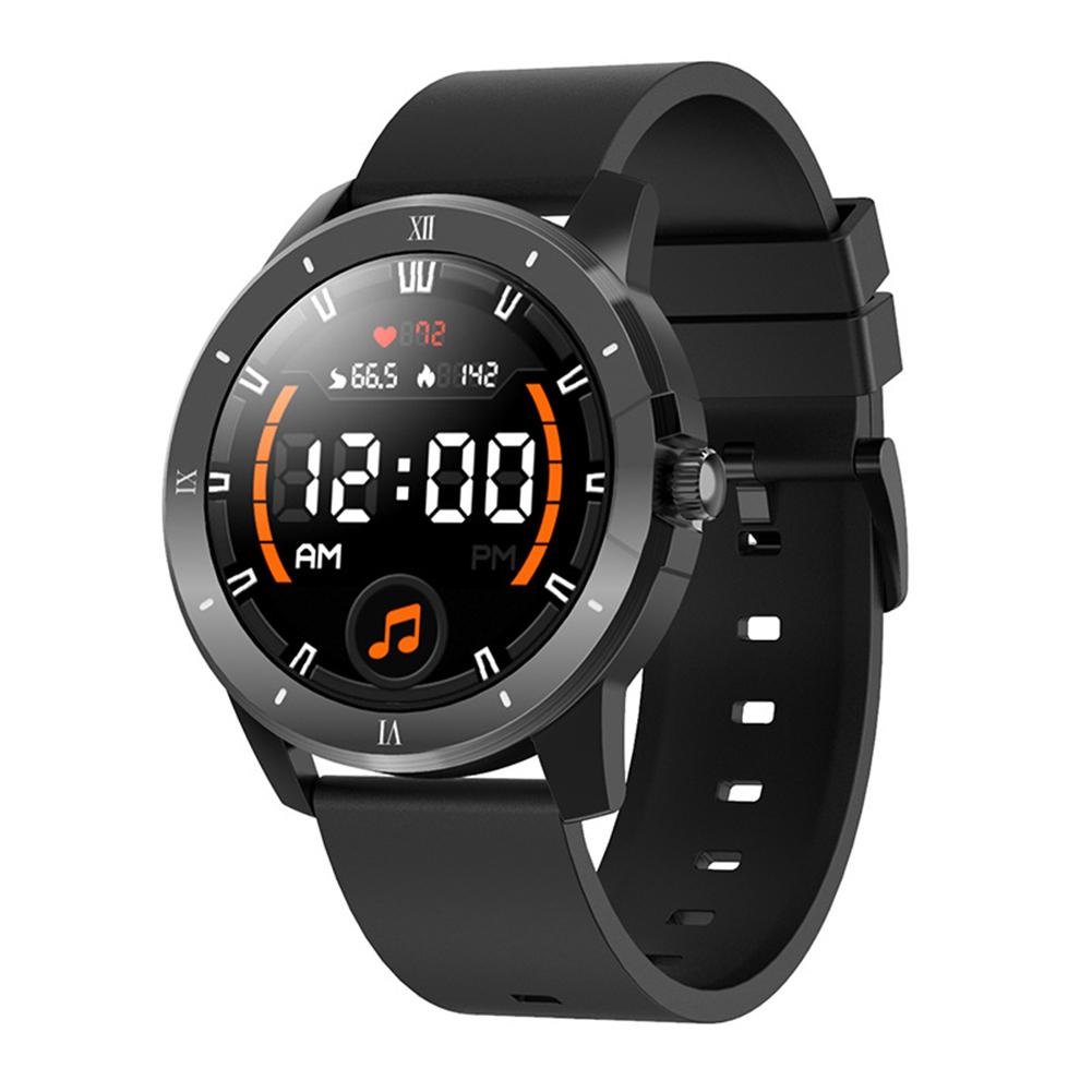 Mx12 Smart Watch Bluetooth Call Music Player Sports Bracelet Keep Health Smart Watch Black silicone belt