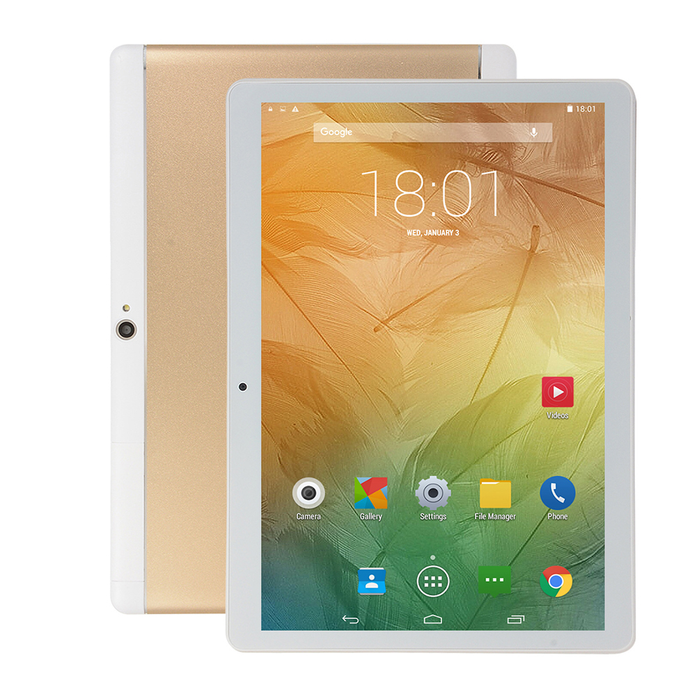 10 inch Tablet Dual Card 3G Call IPS High Definition Screen Bluetooth GPS Gold