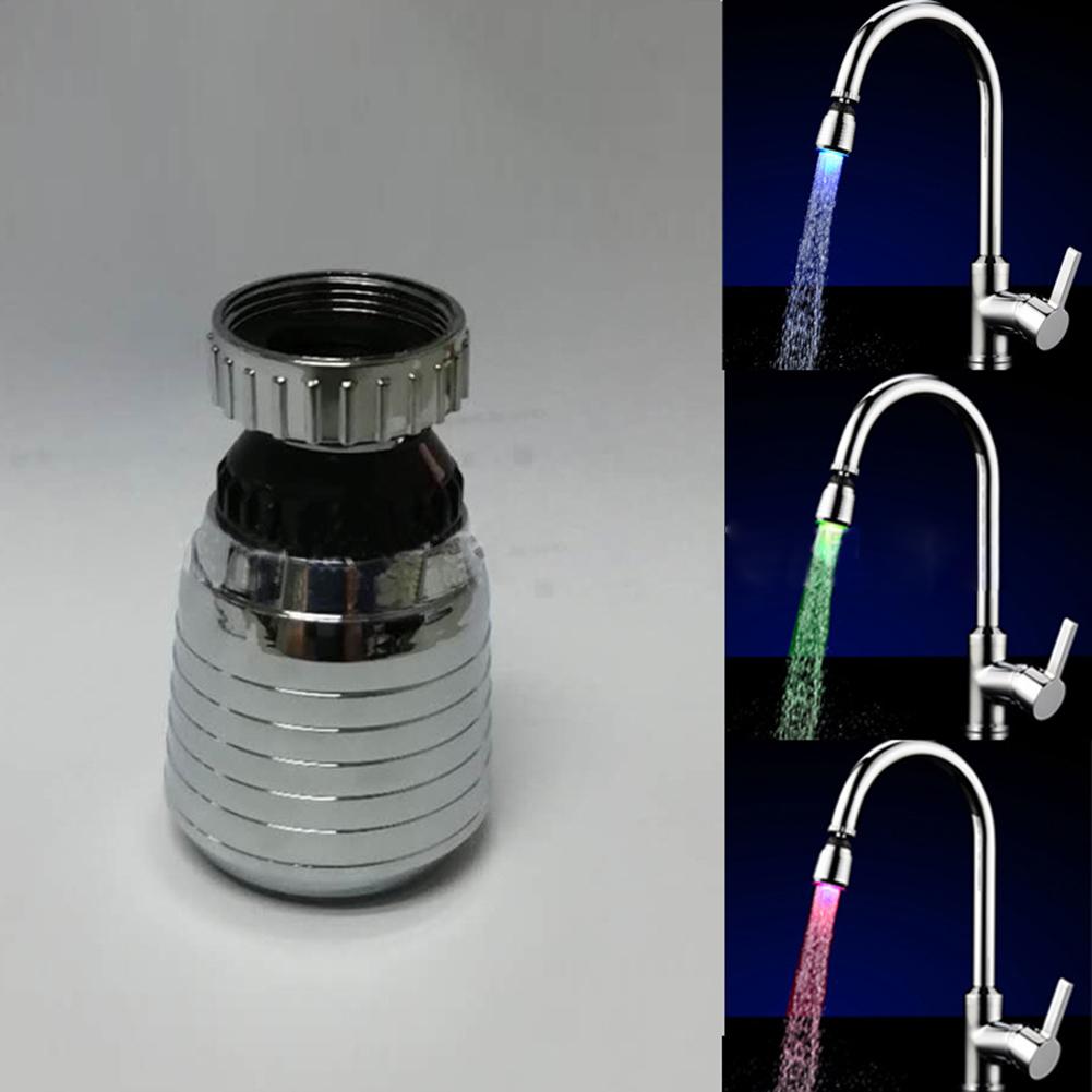 Led Faucet  Aerator Temperature Control 7colors Change 360 Degree Universal Faucet Nozzle Temperature control three colors