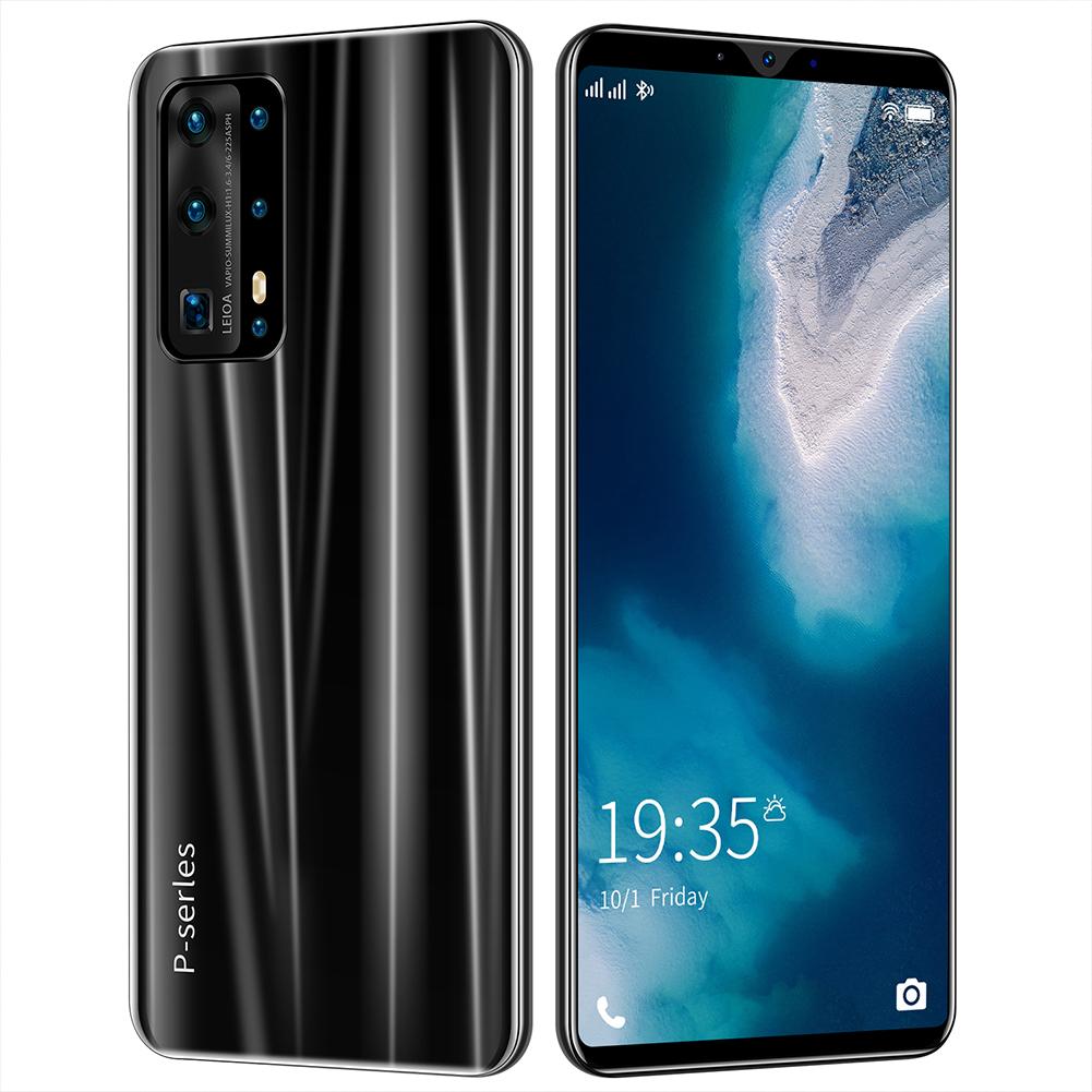 Smart Phone 5.8 Inch Hd+ Full Screen P43 512MB RAM+4GB ROM  Facial Recognition Smart  Phone Black (UK Plug)