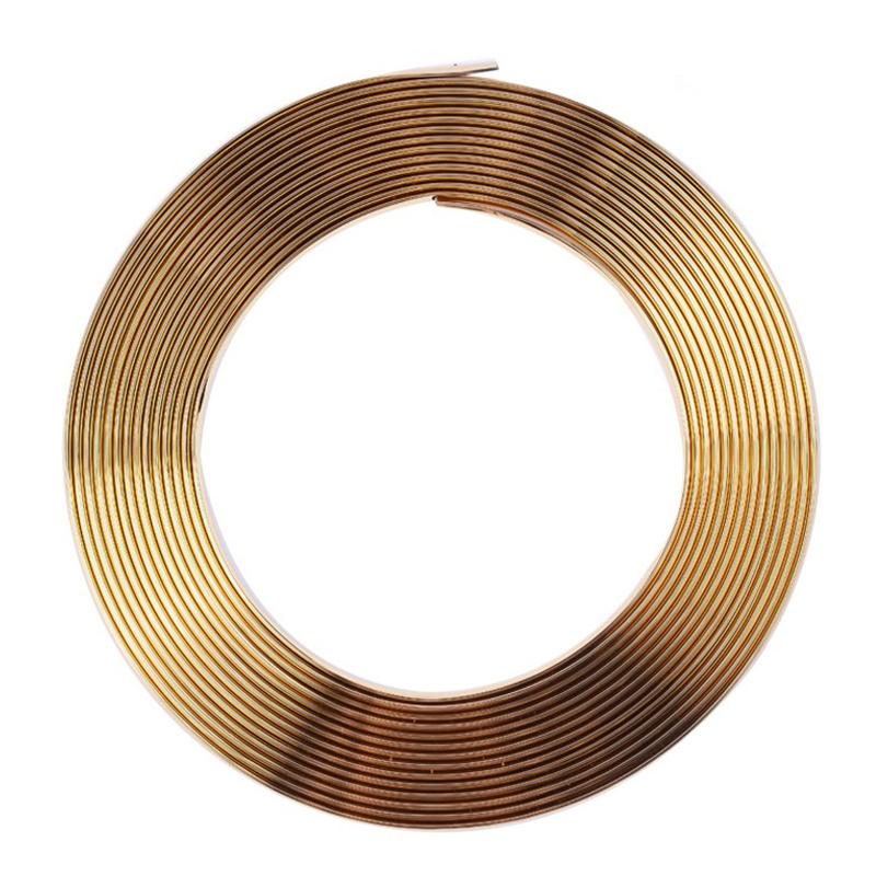 13M Moulding Trim Strip Car Door Edge Protector Cover Outlet Vent Car Decorative Strips Golden