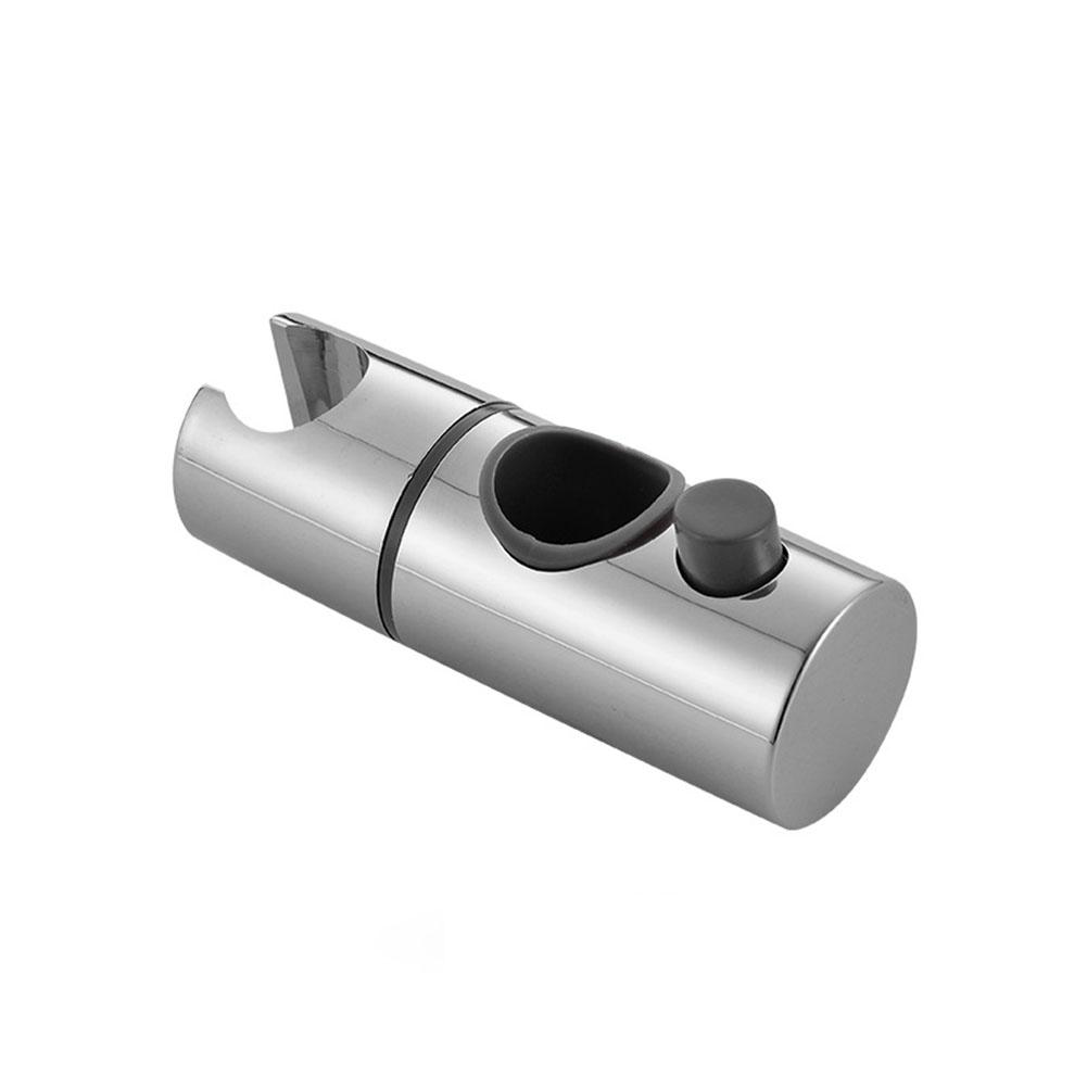 Replacement ABS Chrome Shower Rail Head Slider Holder Adjustable Bracket Bathroom Accessories Aperture 25mm
