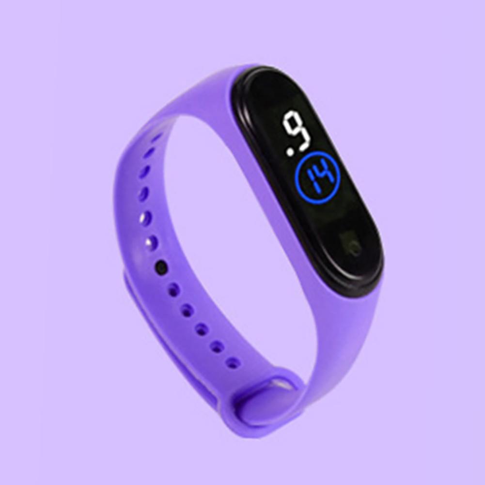 Waterproof M4 LED Muamaly Digital Watches Touch Control Sports Casual Stylish Boys Girls Watch purple