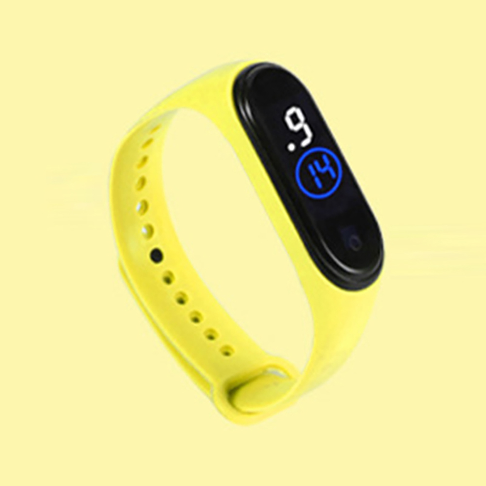 Waterproof M4 LED Muamaly Digital Watches Touch Control Sports Casual Stylish Boys Girls Watch yellow