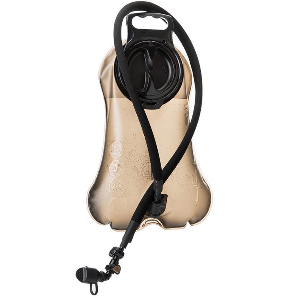 Outdoor TPU Water Bag 2.5L Food Climbing Camp Riding Water Sac Portable Sports Water Bag dark brown